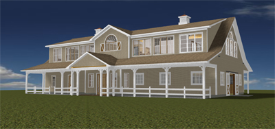 Bxxxxxn SC Front Right Barn Rendering 400