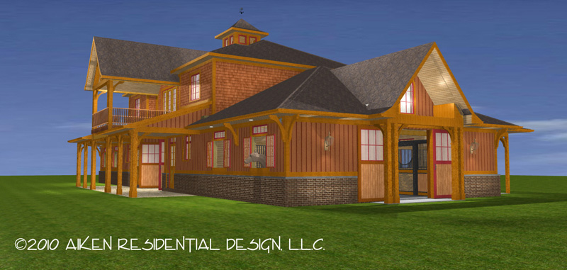 Horse barn plans with apartment aji for Horse barn with apartment plans