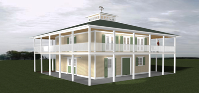 The Plantation Front Left Rendering 400